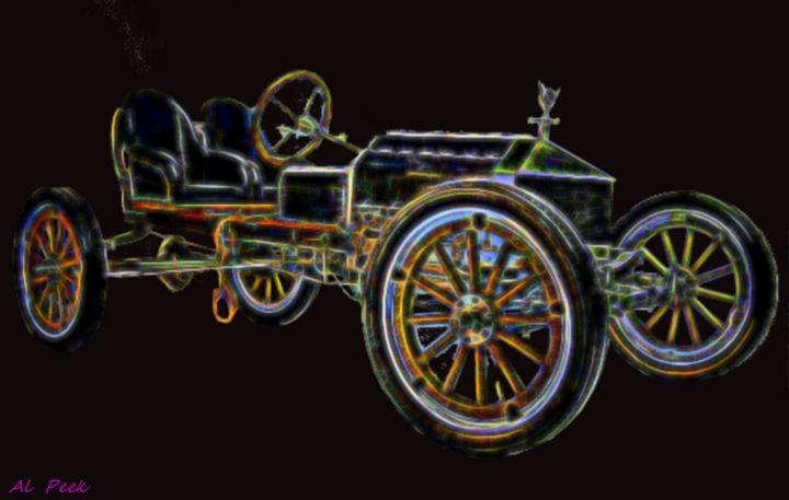 fantasy car - Art by Al Peek