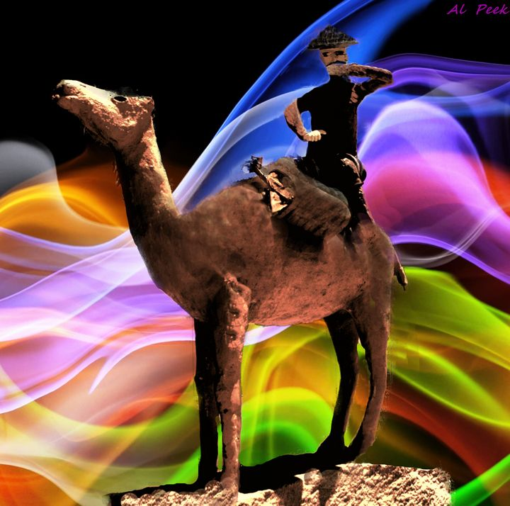 Coolgardie camel - Art by Al Peek