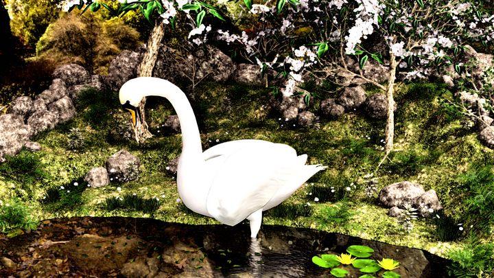 White Swan - Art by Al Peek