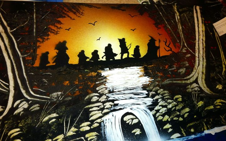 Through The Old Woods - Jed Shields - Spray Paint Art