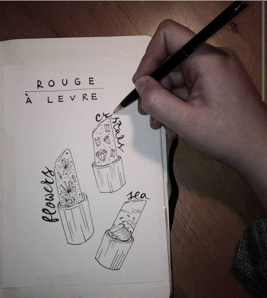 Rouge 'a Levre - Lidia's Art and Drawings