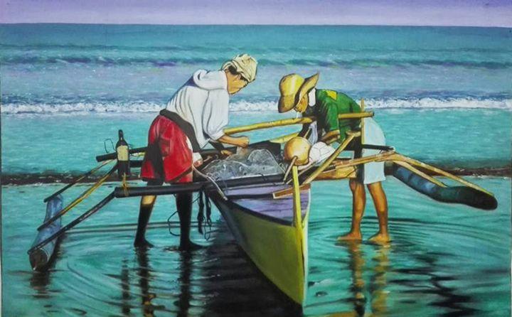 fishermen - Hermogeno Paintings