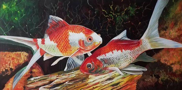 Goldfish Painting - Hermogeno Paintings