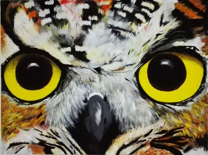 Owl - Hermogeno Paintings