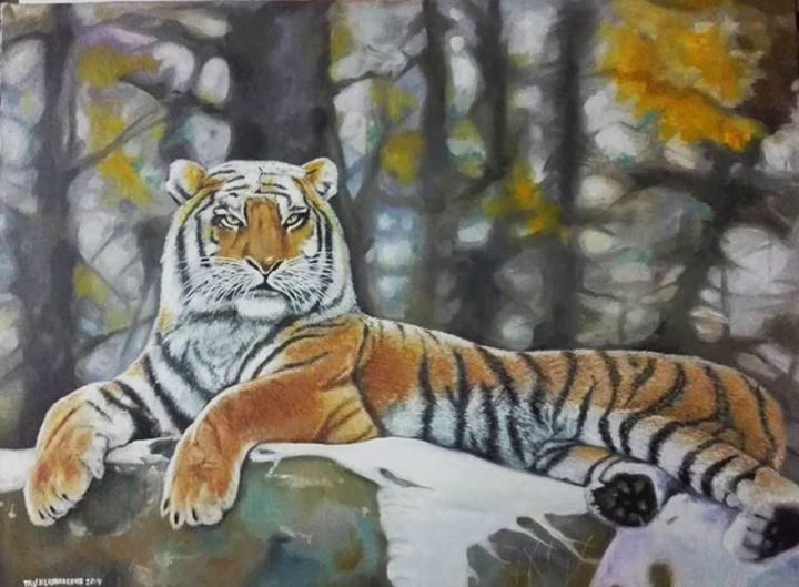 Siberian Tiger - Hermogeno Paintings