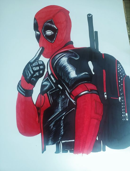 Deadpool Graphic Illustration - Lady Vixen