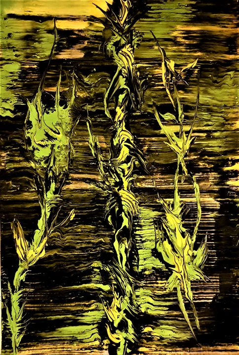 Weeds by my fence - Cecilia Ana Bell