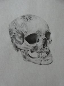 creepu skull drawing