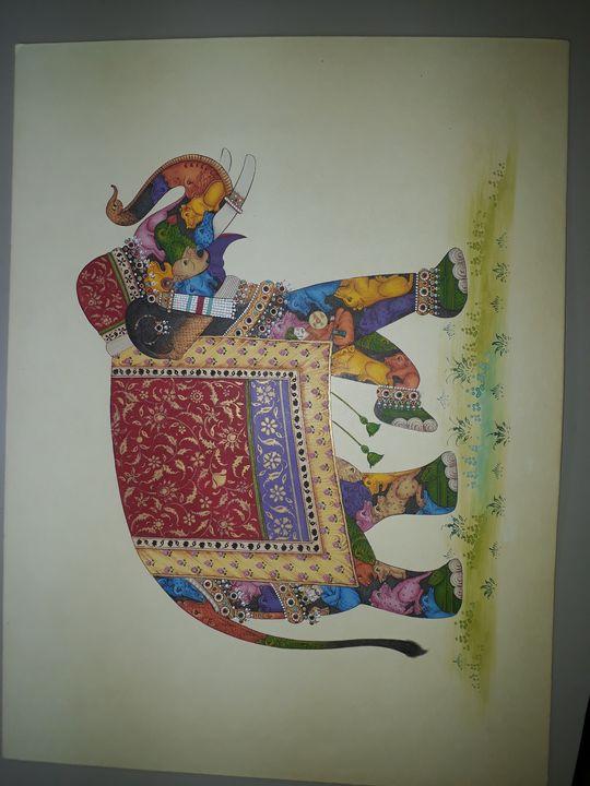 Animal in elephant - Naman art