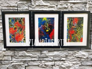Framed Abstract Set