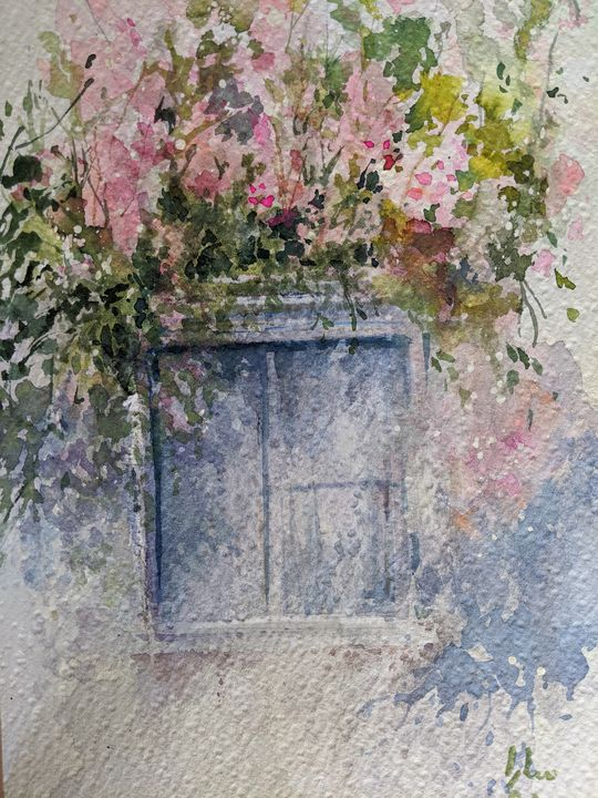 Flowers around Window - AllSurreal
