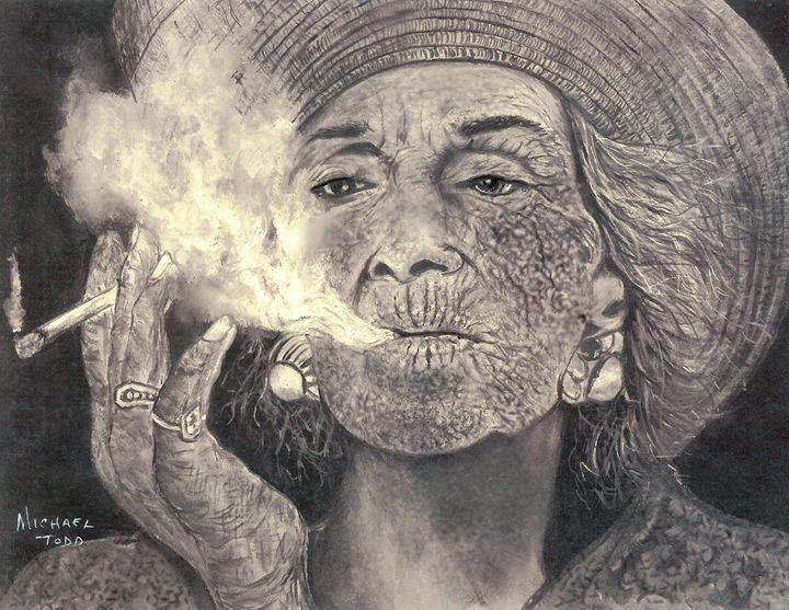 Smoking Woman - ArtistMichaelTodd