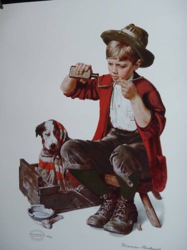 "Norman Rockwell ""Bedside Manner"" - Sarah B."