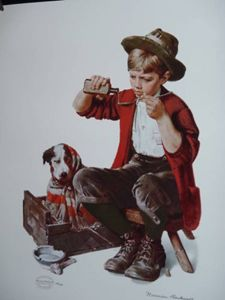 "Norman Rockwell ""Bedside Manner"""