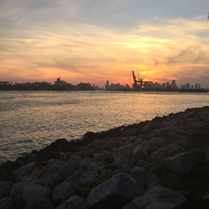 Sunset at South Beach - Ade