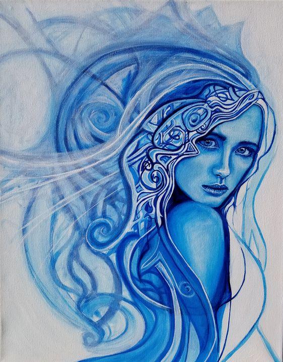 Winter Woman - KDeniseArt