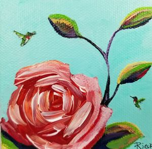 Tiny flowers 9, hummingbirds