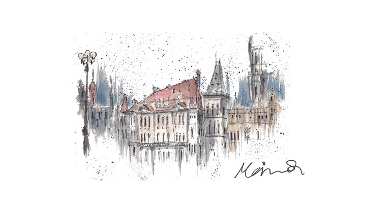 Sketches from Europe. - Mais.Q Art
