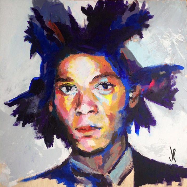 Jean Michel Basquiat 50x50cm Acrylic - Artespontaneo
