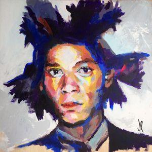 Jean Michel Basquiat 50x50cm Acrylic