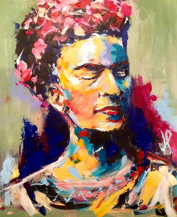 Frida Kahlo - 55x45 cm - Artespontaneo