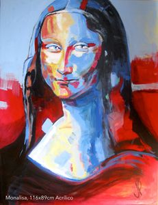 Monalisa , acrylic on canvas