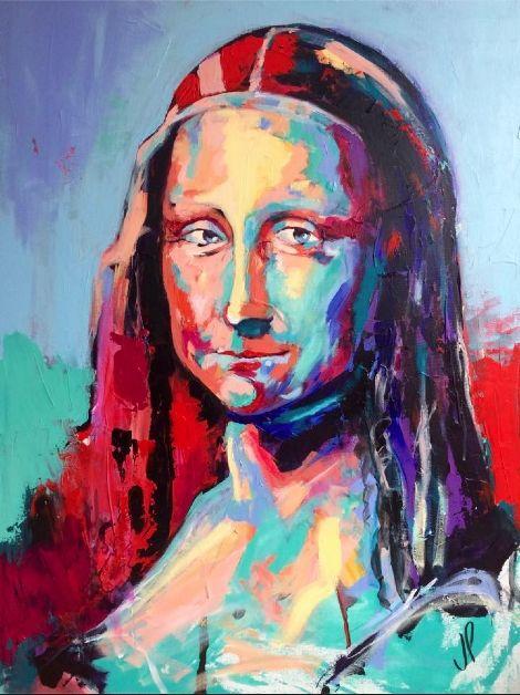Monalisa, Gioconda Acrylic on canvas - Artespontaneo