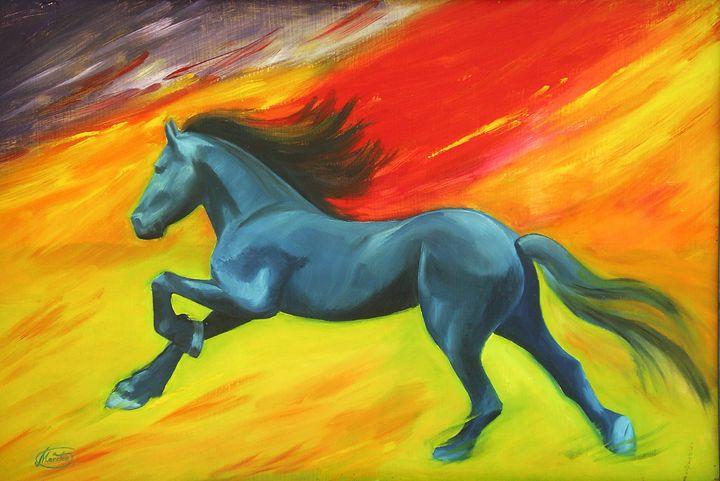Caballo azul - Megon Art
