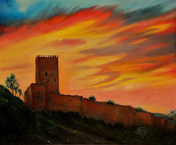 Castillo al atardecer - Megon Art
