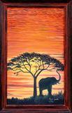 Elefante al atardecer