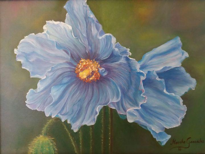 Flor azul - Megon Art