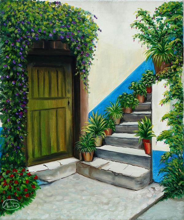 Escalera Azul - Megon Art