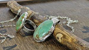 Turquoise/Turquoise Ring/Pendant - Artpal.com/royOriginals