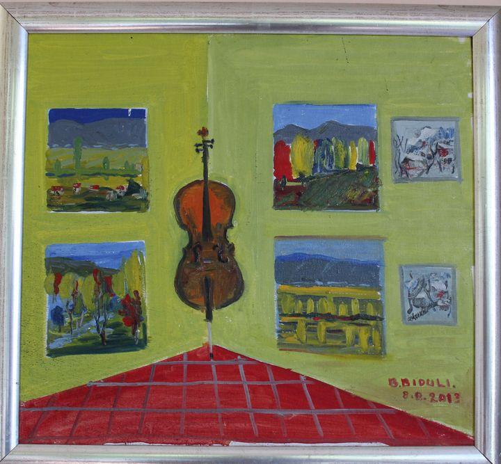 Violineçelë në  studion e piktorit - biduli