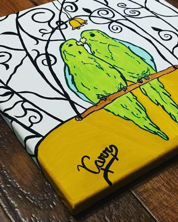 Parakeets - ArtFusion Boutique Pet Portraits