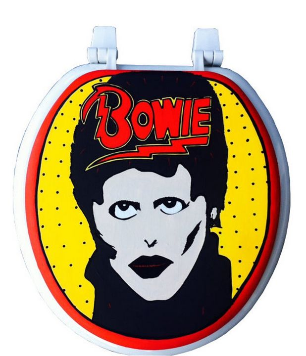 Bowie Hand Painted Toilet Seat - Debbie Is Adopted