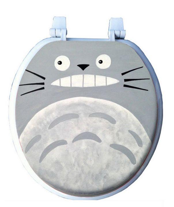 Totoro Hand Painted Toilet Seat - Debbie Is Adopted
