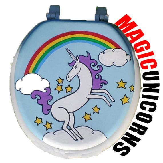 Unicorn Hand Painted Toilet Seat - Debbie Is Adopted