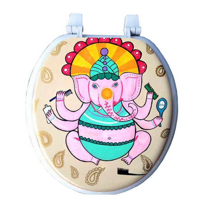 Bathroom Ganesha Toilet Seat - Debbie Is Adopted