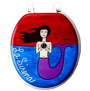 La Sirena Mermaid Toilet Seat