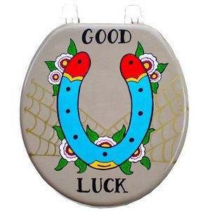 Good Luck Horse Shoe Toilet Seat