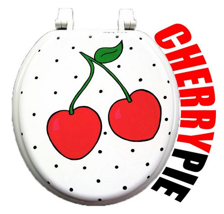 Cheery Cherry Toilet Seat - Debbie Is Adopted