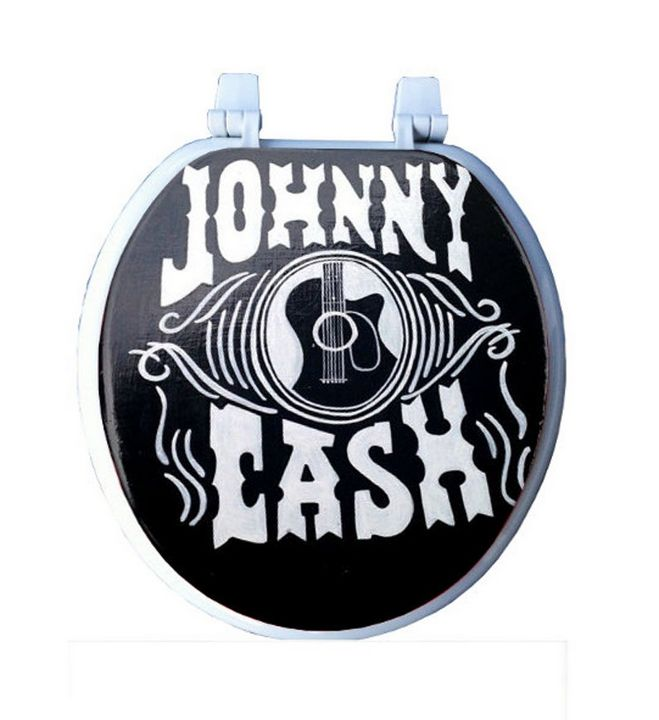 Johnny Cash Toilet Seat - Debbie Is Adopted