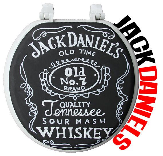 Jack Daniels HandPainted Toilet Seat - Debbie Is Adopted