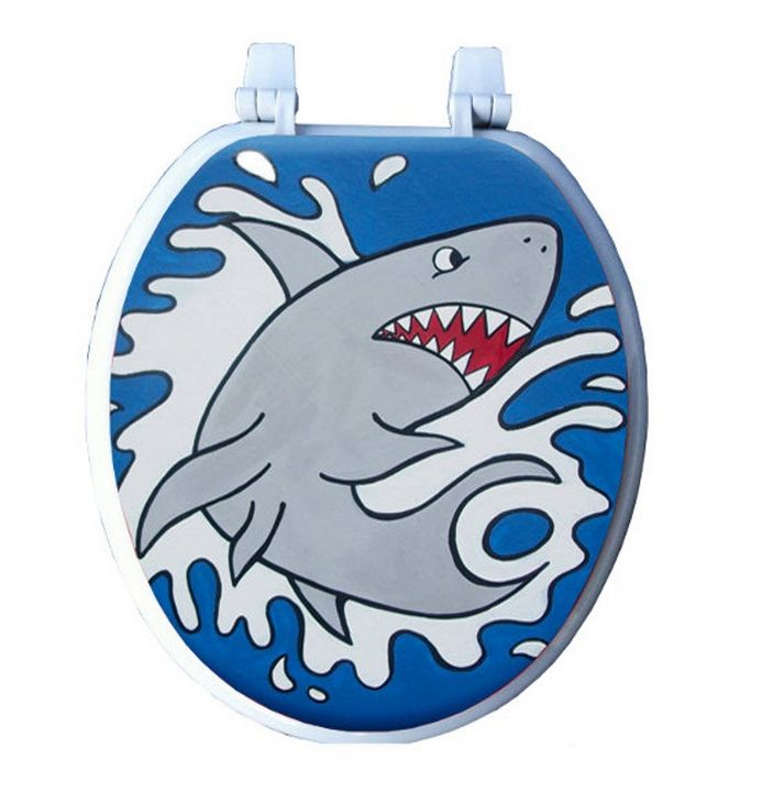 Shark Attack Toilet Seat - Debbie Is Adopted