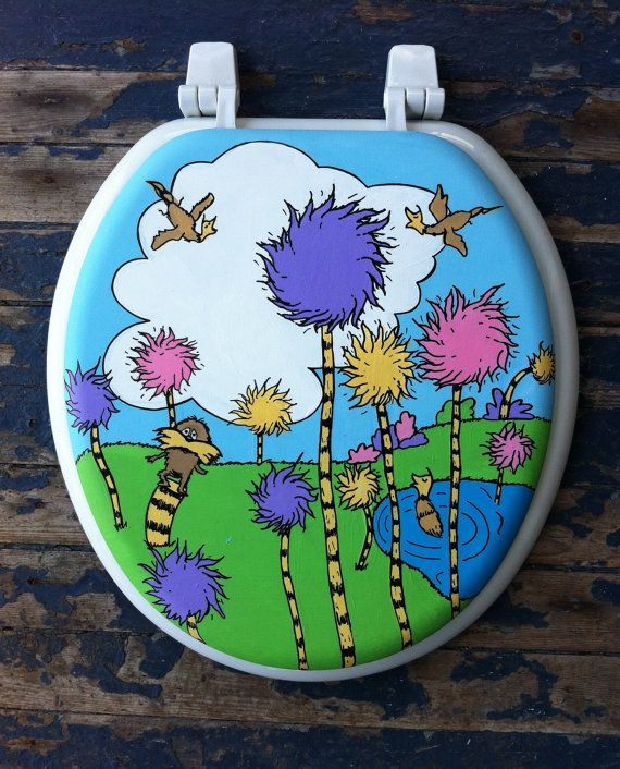 Lorax Hand Painted Toilet Seat - Debbie Is Adopted