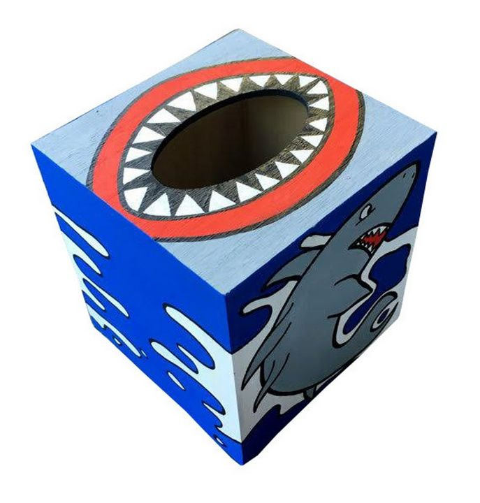 Shark Attack Tissue Box - Debbie Is Adopted