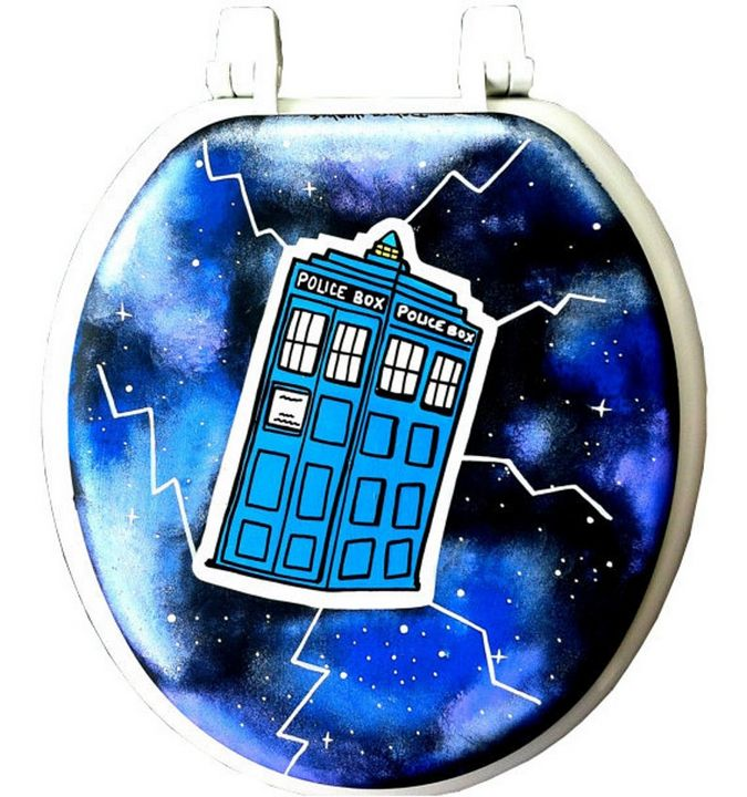 Dr Who Hand Painted Toilet Seat - Debbie Is Adopted