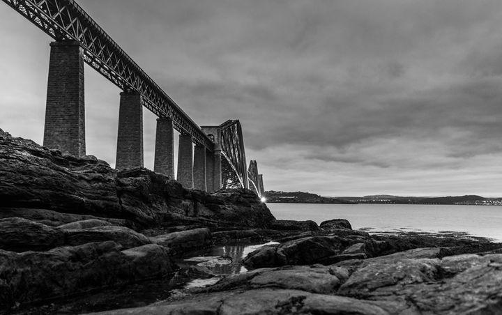 Forth bridge (Black & White) - Sunil Bhandari