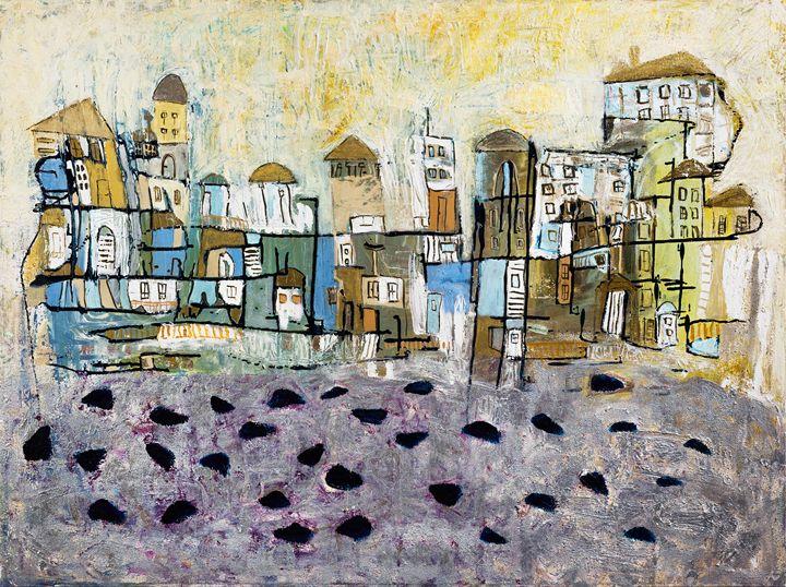 Jaffa facing the sea - Sharon Papay's Art